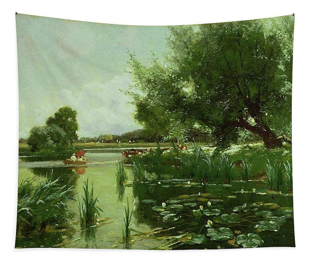 Summer Tapestry featuring the painting Summer - One Of A Set Of The Four Seasons by Arthur Walker Redgate