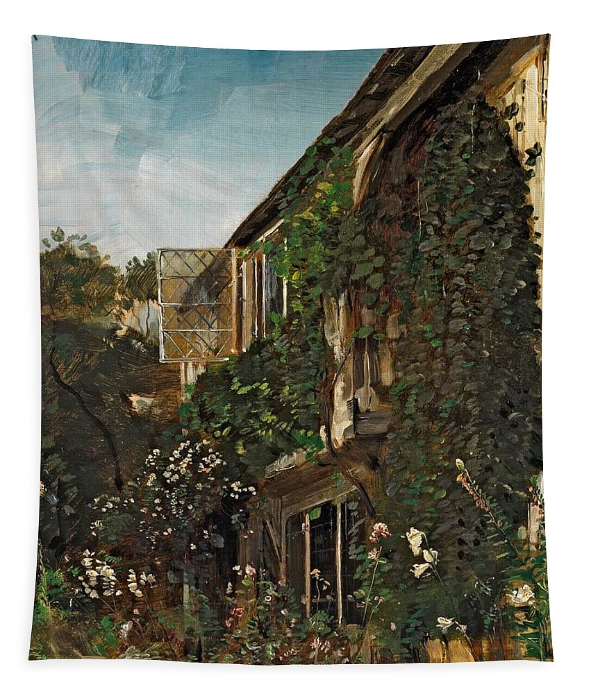 Summer Garden Tapestry featuring the painting Summer Garden by HM Anthony