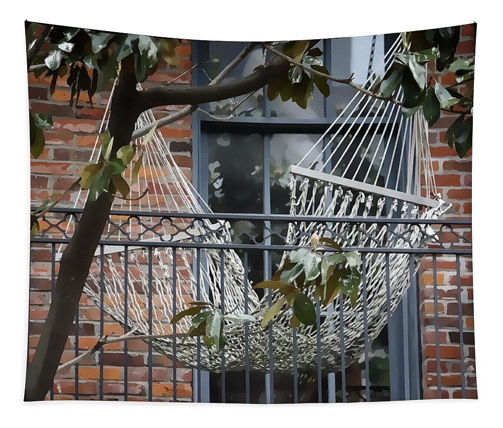 Hammock Tapestry featuring the photograph Summertime Livin' In The Big Easy by Joan Carroll