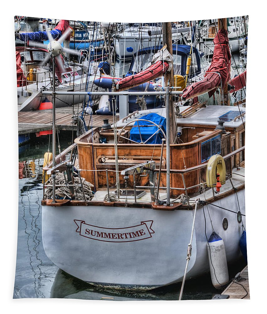 Summertime Tapestry featuring the photograph Summertime by Steve Purnell