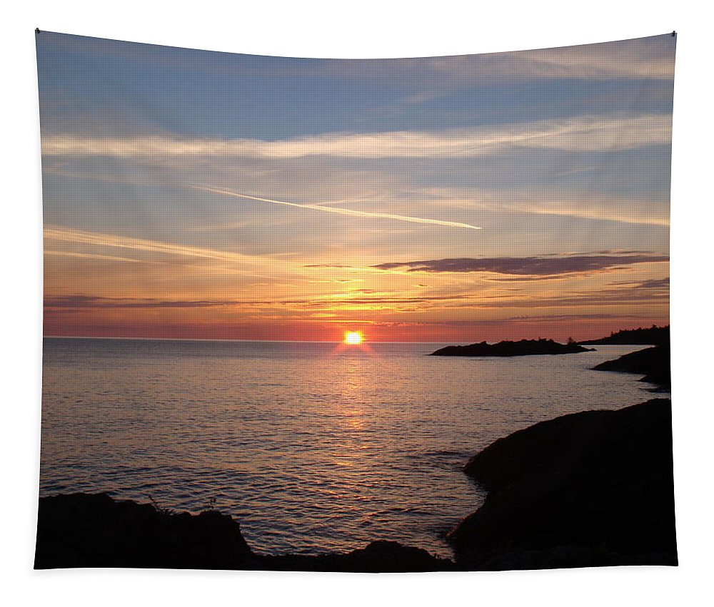 Lake Superior Tapestry featuring the photograph Sun Up On The Up by Bonfire Photography