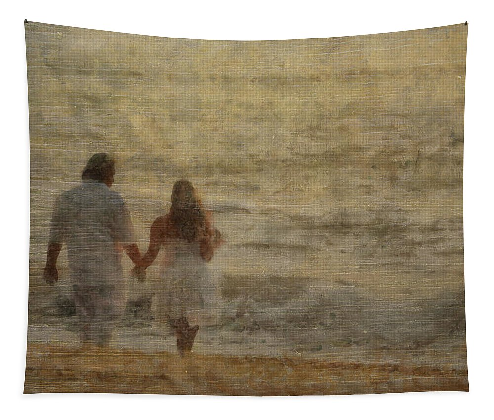 Sunrise Tapestry featuring the photograph Sunrise Wedding by Trish Tritz