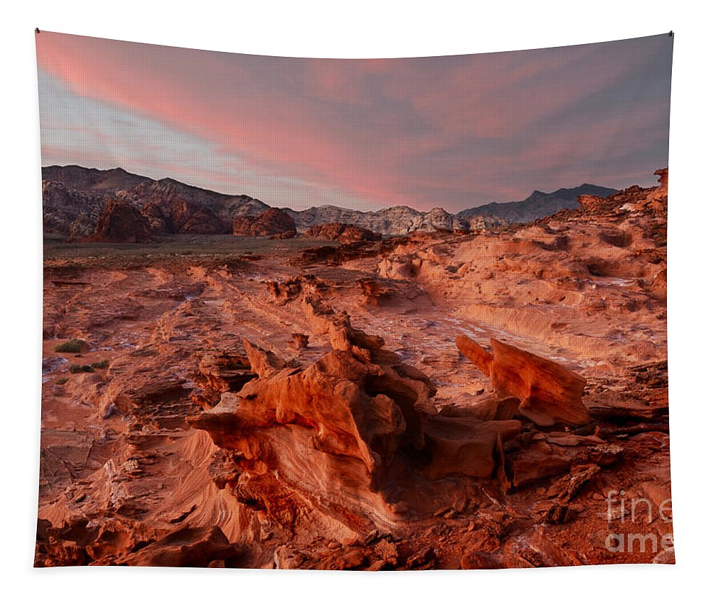 Little Finland Tapestry featuring the photograph Sunset At Liitle Finland by Bob Christopher