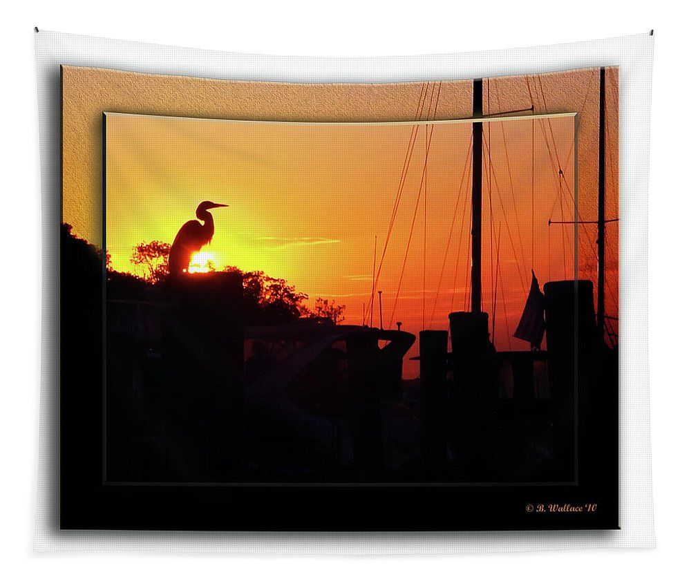 2d Tapestry featuring the photograph Sunset At The Granary by Brian Wallace