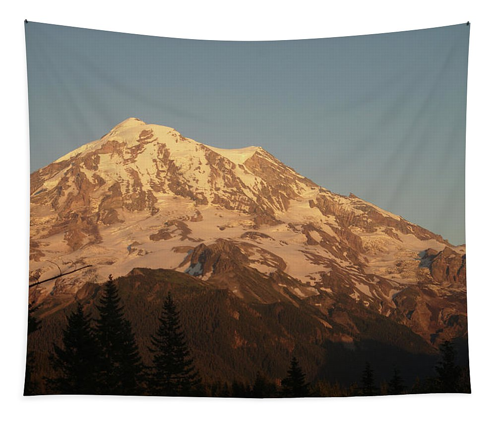 Sunset Tapestry featuring the photograph Sunset On The Mountain by Michael Merry