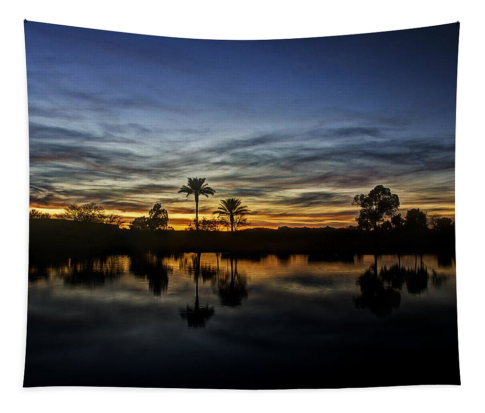 Sunset Tapestry featuring the photograph Sunset Reflections by Saija Lehtonen
