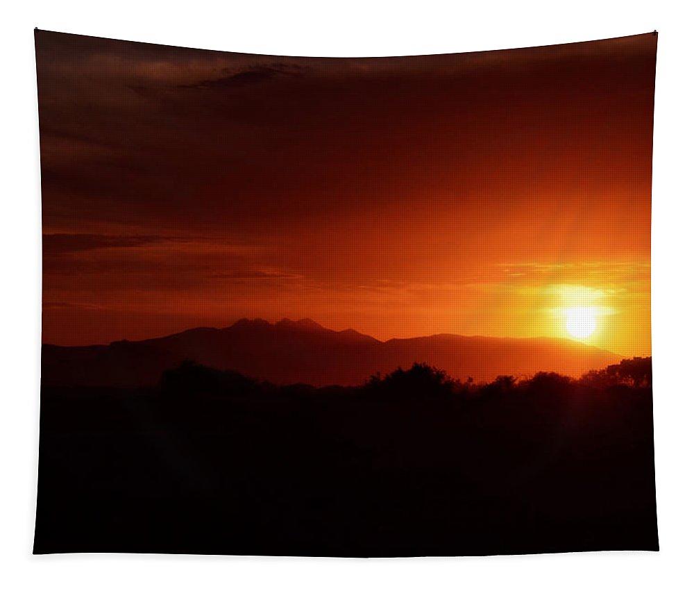 Sunrise Tapestry featuring the photograph Superstition Sunrise V by Saija Lehtonen
