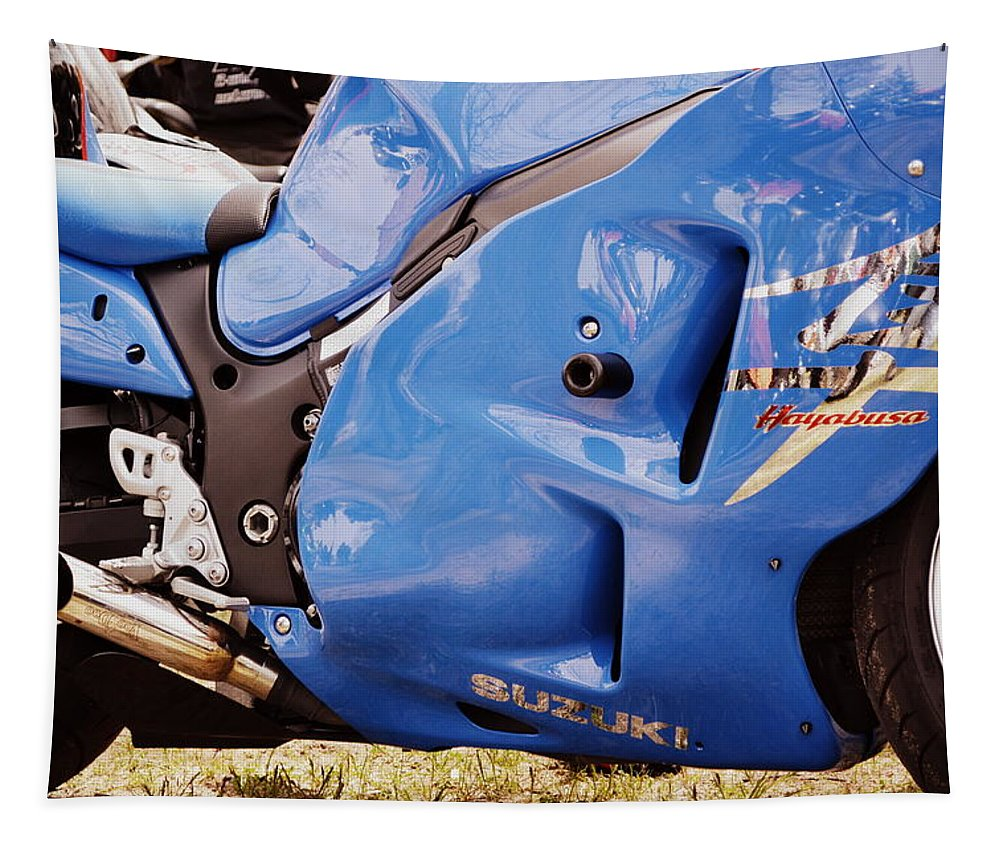 Racing Tapestry featuring the photograph Suzuki Hayabusa by Michelle Calkins