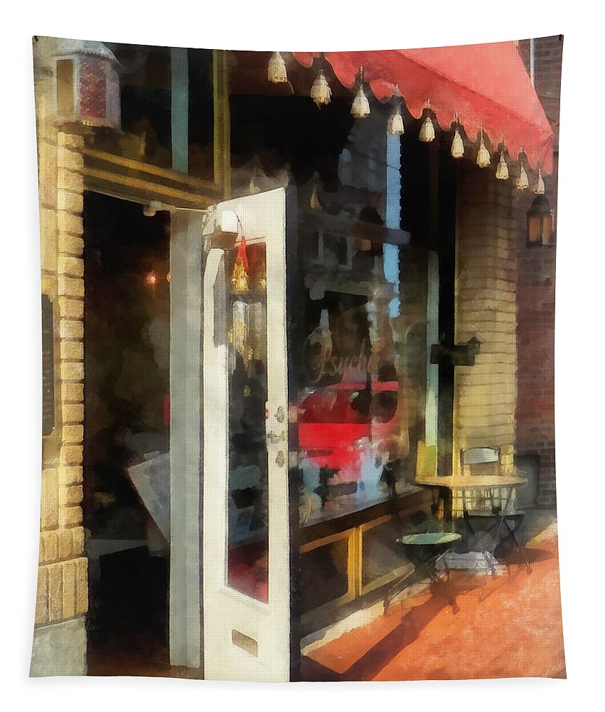 Tea Room Tapestry featuring the photograph Tea Room In Sono Norwalk Ct by Susan Savad
