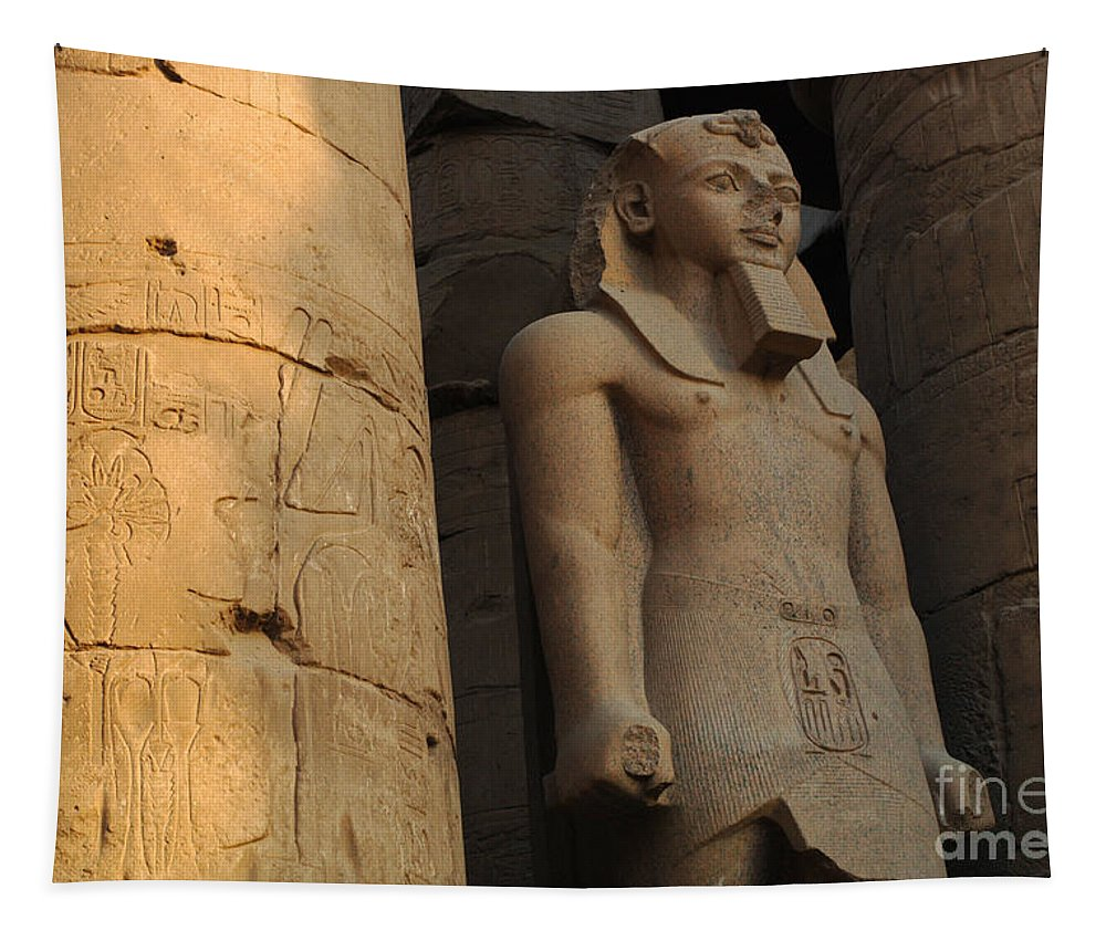 Egypt Tapestry featuring the photograph Temple Of Luxor Egypt by Bob Christopher