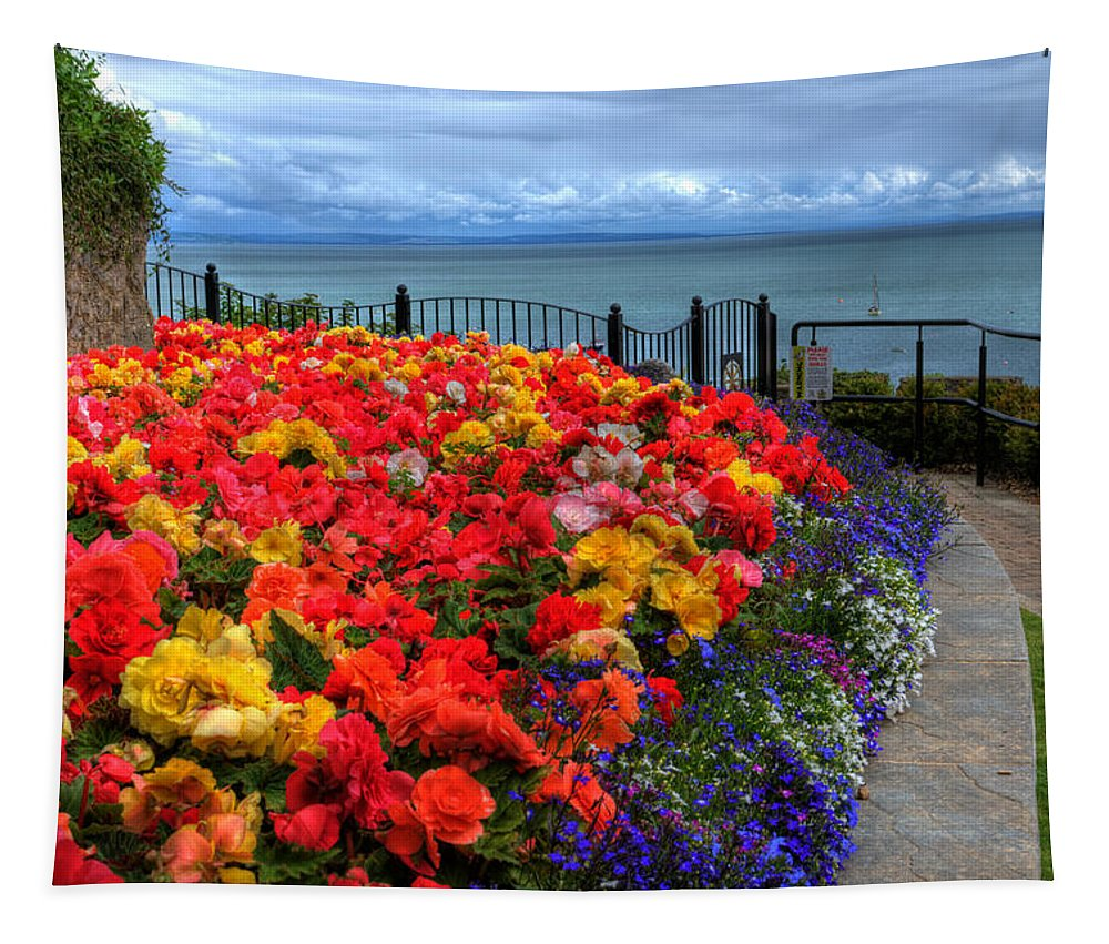 Tenby In Bloom Tapestry featuring the photograph Tenby In Bloom by Steve Purnell