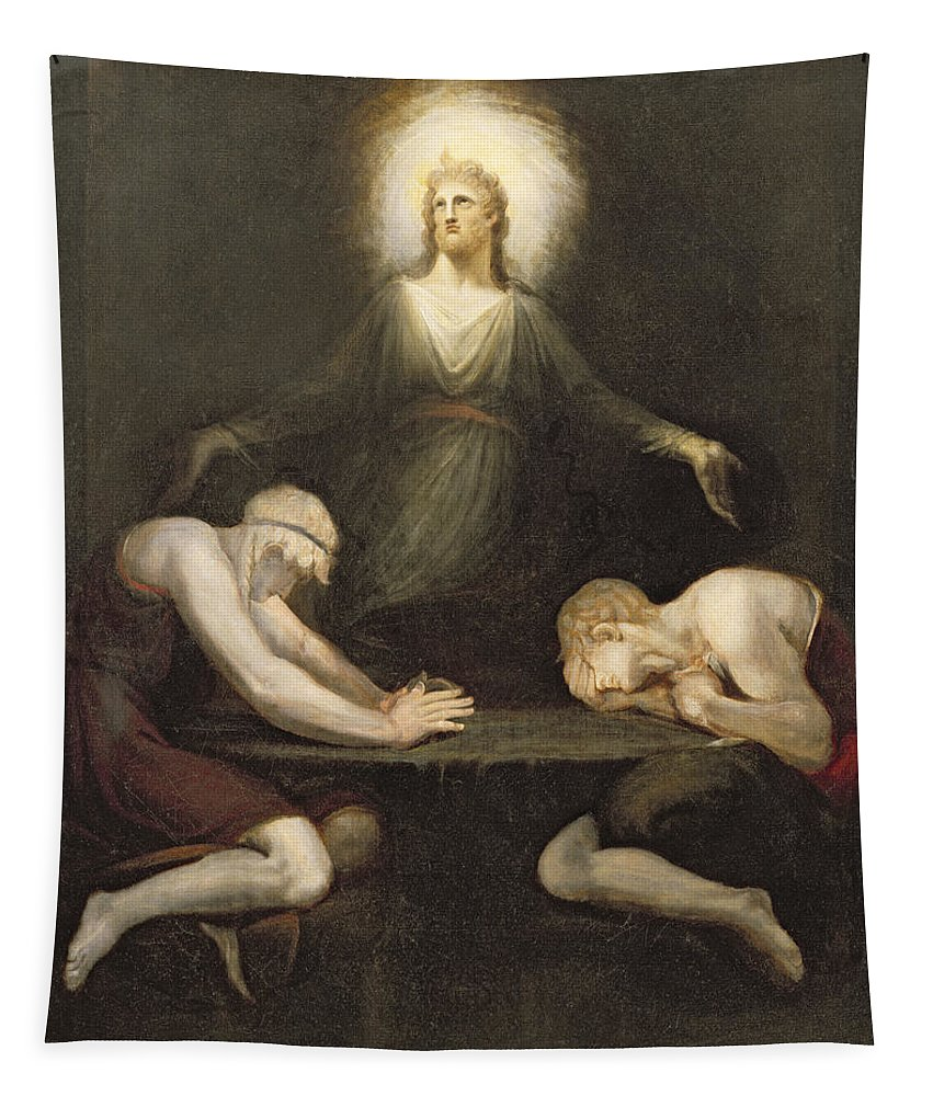 Xyc127216 Tapestry featuring the photograph The Appearance Of Christ At Emmaus by Henry Fuseli