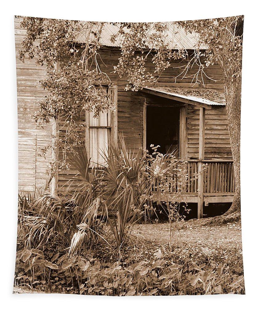 Door Tapestry featuring the photograph The Back Door by Carol Groenen