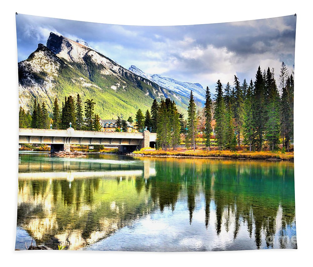 River Tapestry featuring the photograph The Banff Bridge by Tara Turner
