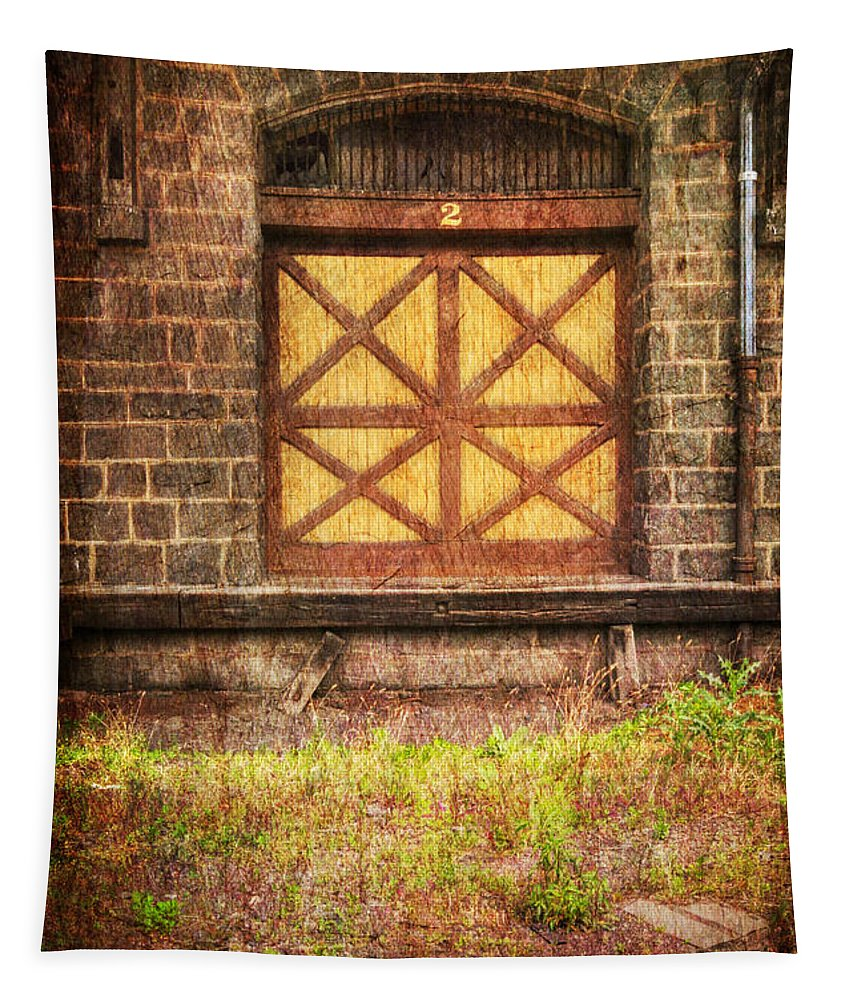 Door Tapestry featuring the photograph The Bay Door by Paul Ward