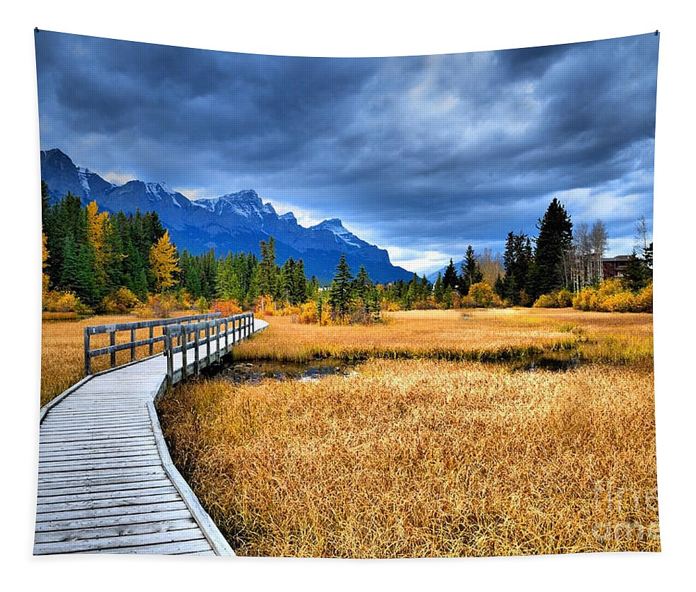 Canmore Tapestry featuring the photograph The Boardwalk by Tara Turner