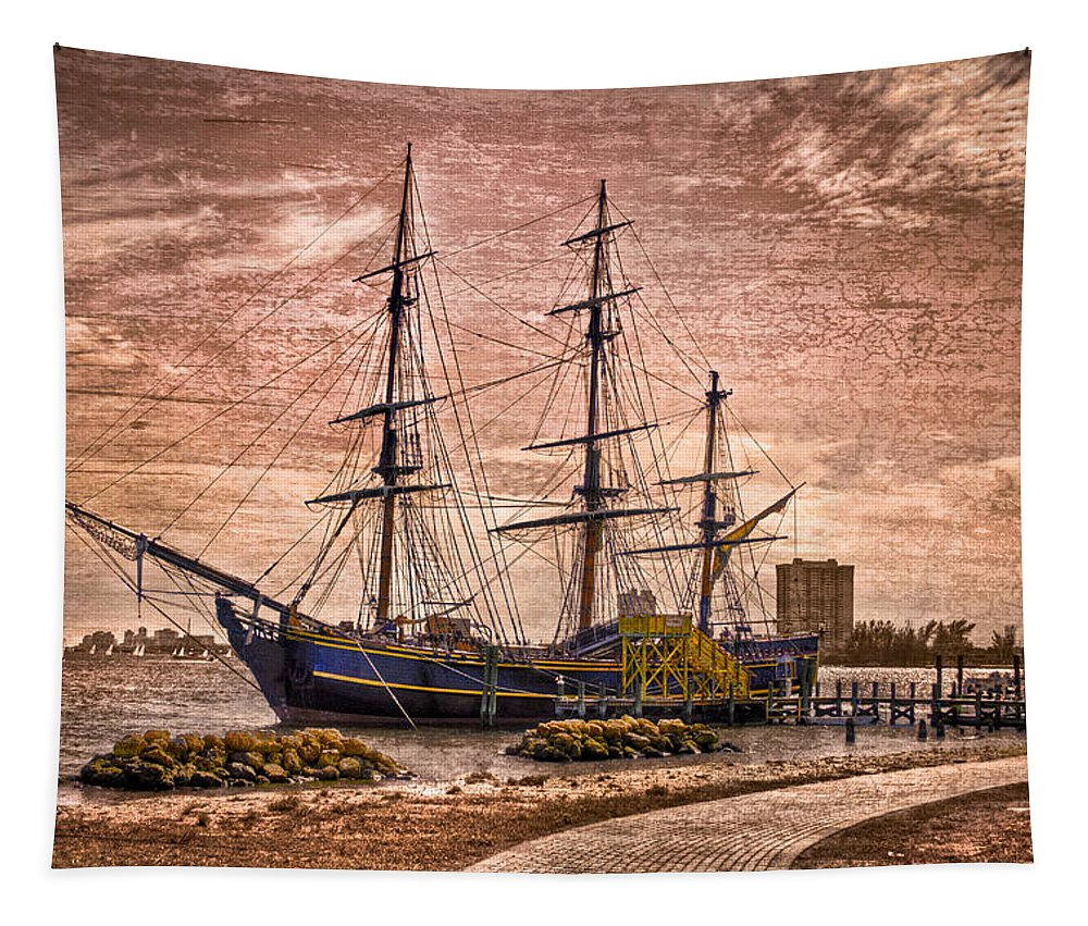 Boats Tapestry featuring the photograph The Bounty by Debra and Dave Vanderlaan