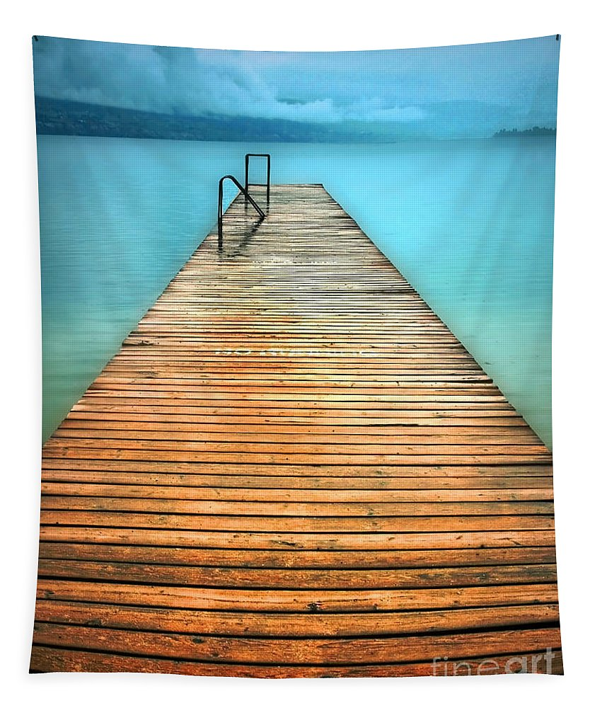 Pier Tapestry featuring the photograph The Calm by Tara Turner