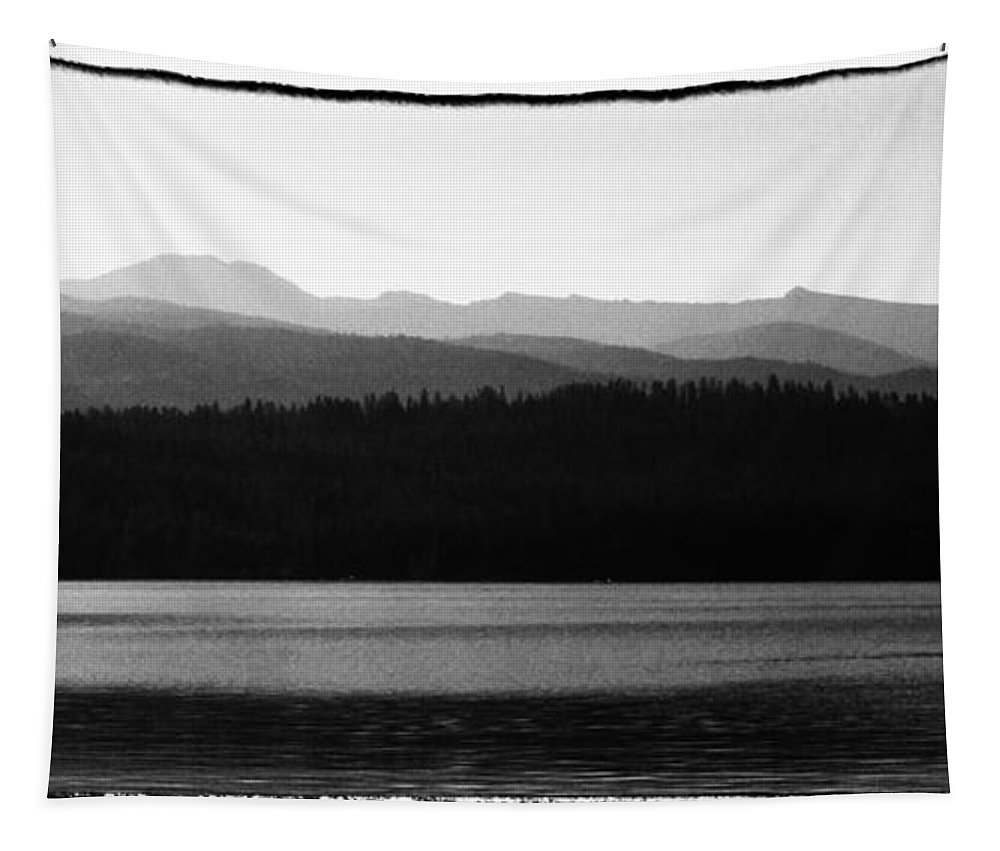 Elkins Resort Boathouse Tapestry featuring the photograph The Calm Waters Of Priest Lake Idaho by David Patterson