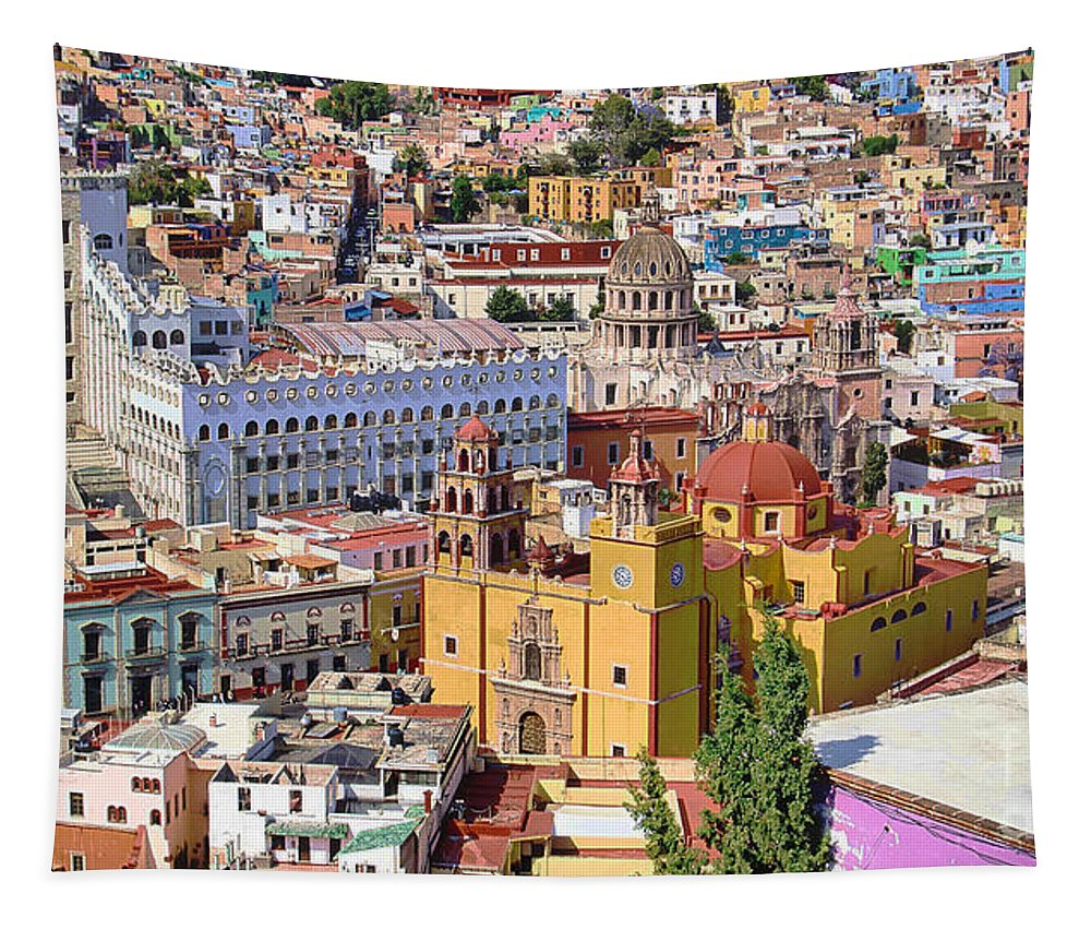City Tapestry featuring the photograph The City Of Guanajuato by John Kolenberg