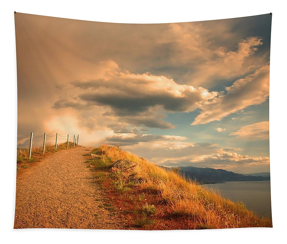 Clouds Tapestry featuring the photograph The Cloud Path by Tara Turner