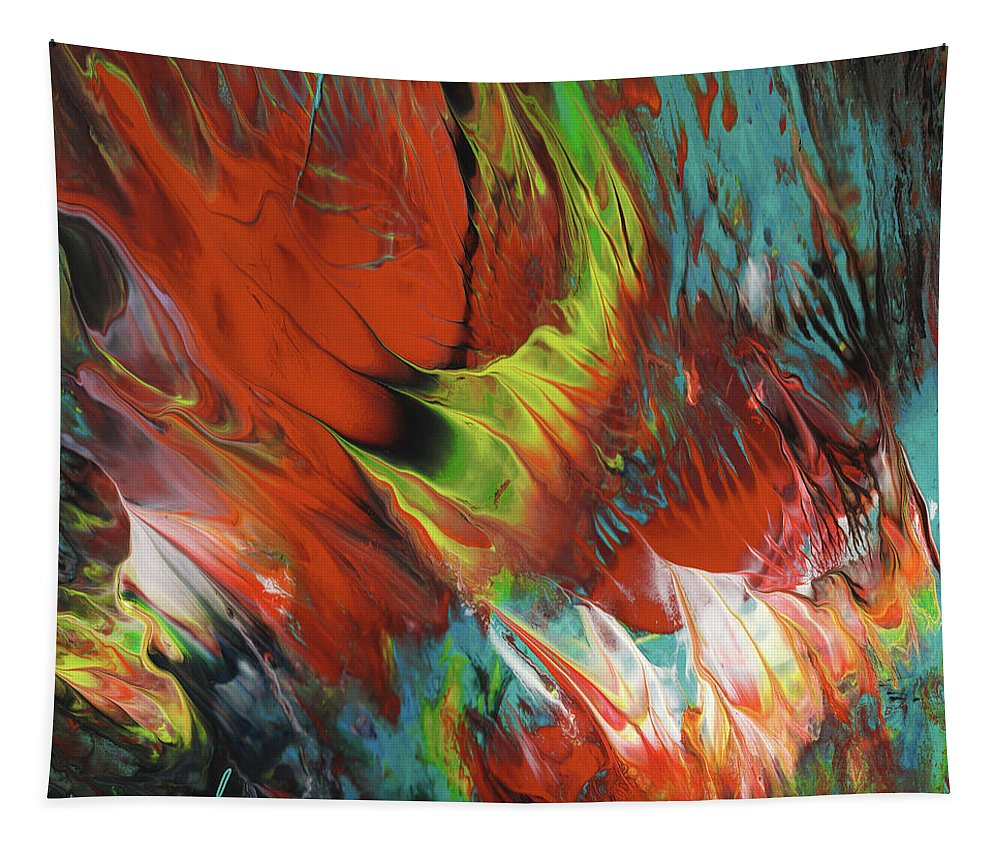 Abstract Tapestry featuring the painting The Dance by Miki De Goodaboom