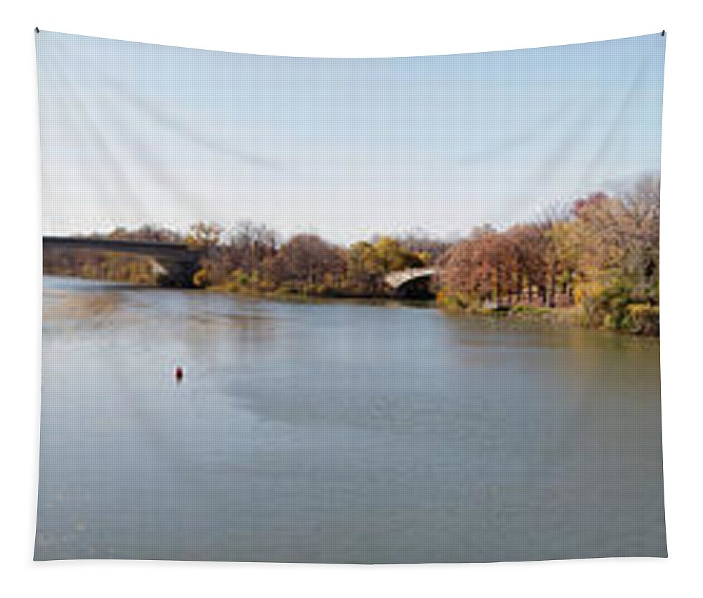 Erie Canal Tapestry featuring the photograph The Erie Canal Crossing The Genesee River by William Norton