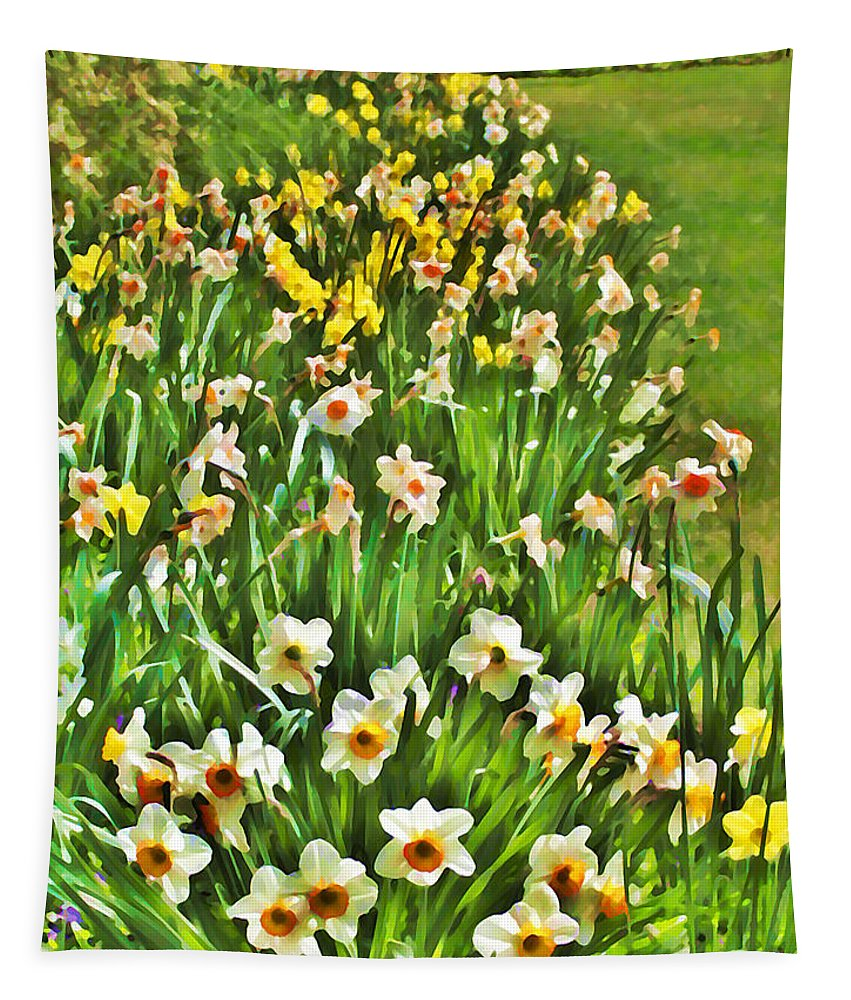 The Flower Bed Tapestry featuring the photograph The Flower Bed by Bill Cannon
