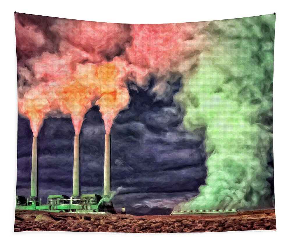 Power Plant Tapestry featuring the painting The Graveyard Shift by Dominic Piperata