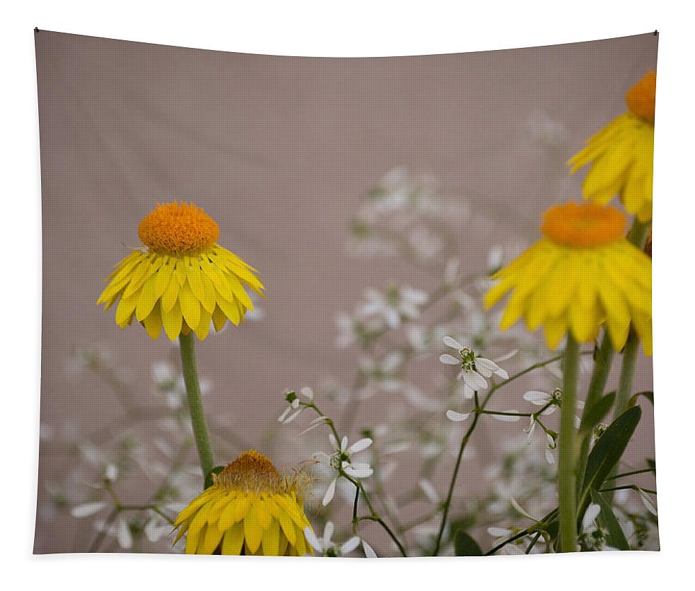 Flower Tapestry featuring the photograph The Heart Of The Matter by Trish Tritz