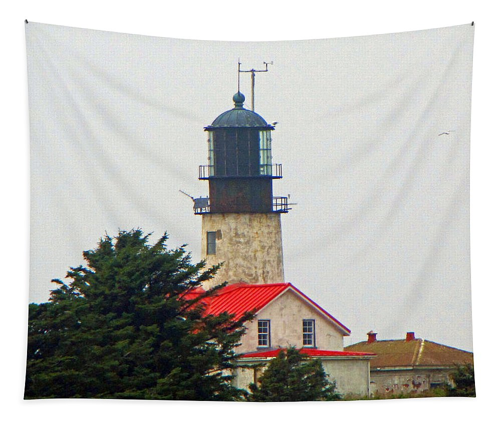 Cape Flattery Tapestry featuring the photograph The Lighthouse Of Tatoosh by Tikvah's Hope
