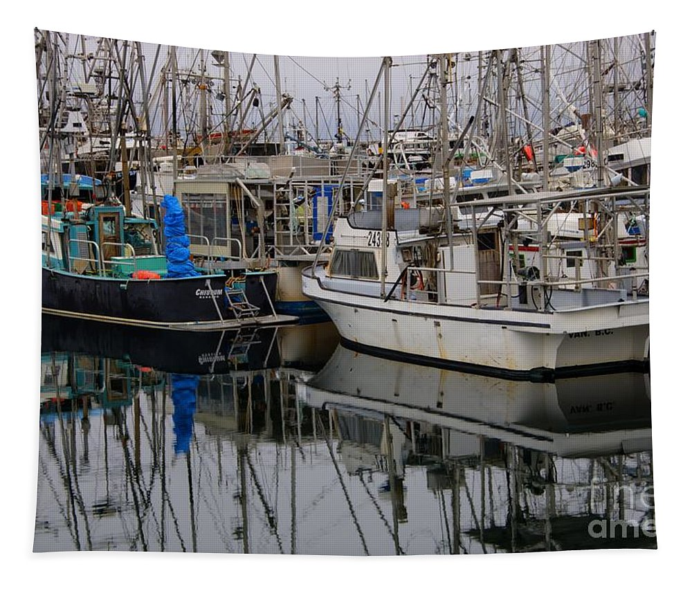 Fishing Boats Tapestry featuring the photograph The Maze by Bob Christopher