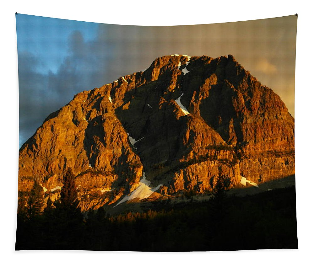 Mountains Tapestry featuring the photograph The Mountain Says Good Morning by Jeff Swan