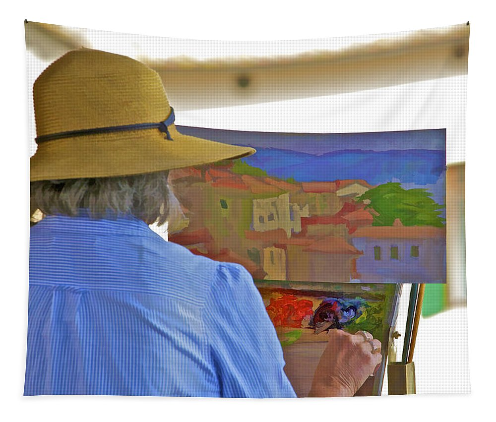 Cortona Tapestry featuring the photograph The Painter by David Letts