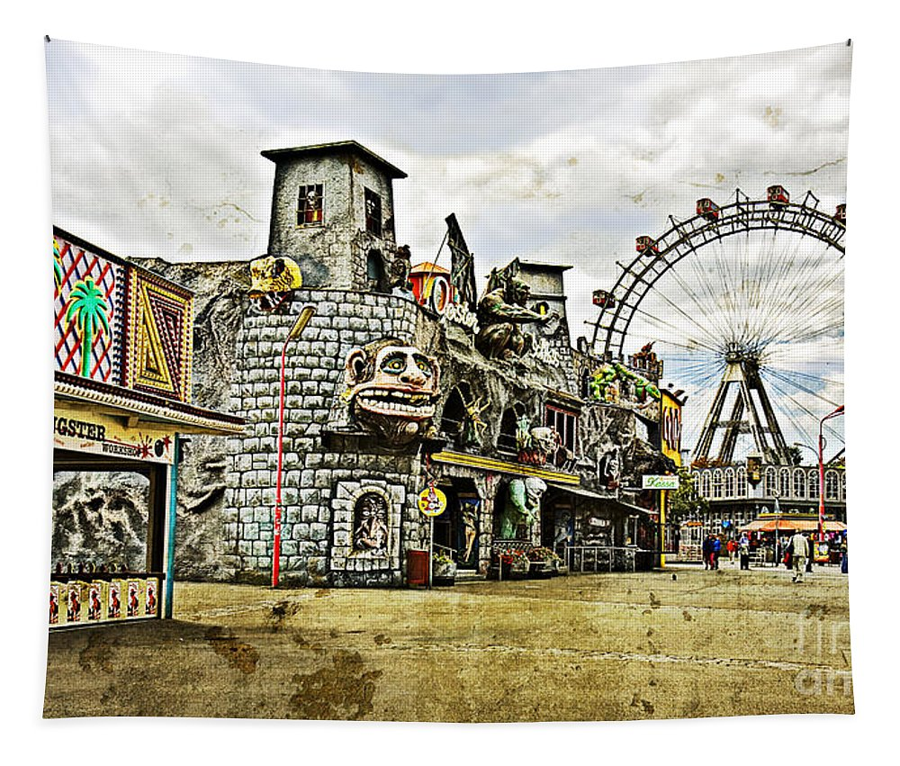 Ferris Wheel Tapestry featuring the photograph The Prater - Vienna by Madeline Ellis