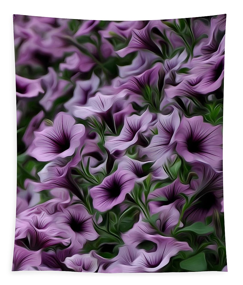 The Purple Sea Tapestry featuring the photograph The Purple Sea by Bill Cannon