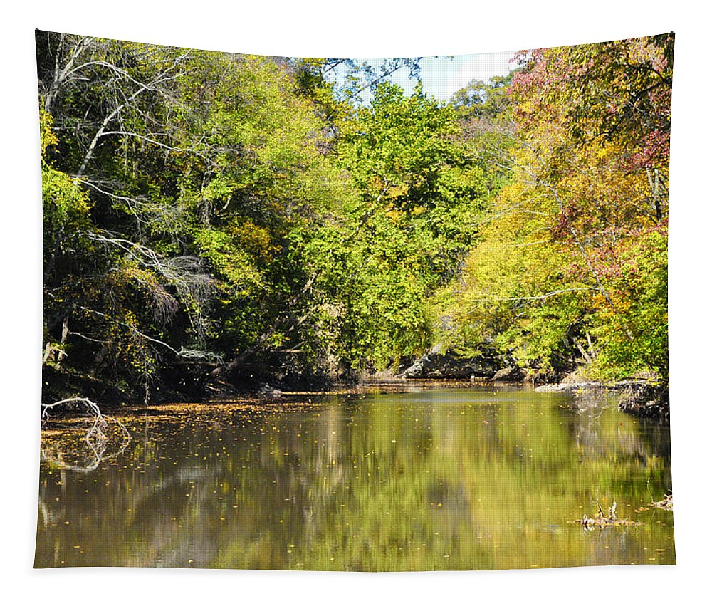 Wissiahickon Tapestry featuring the photograph The Quiet Wissahickon by Bill Cannon
