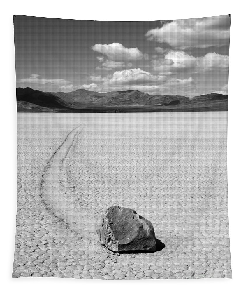 Death Valley Tapestry featuring the photograph Death Valley California The Racetrack 2 by Bob Christopher
