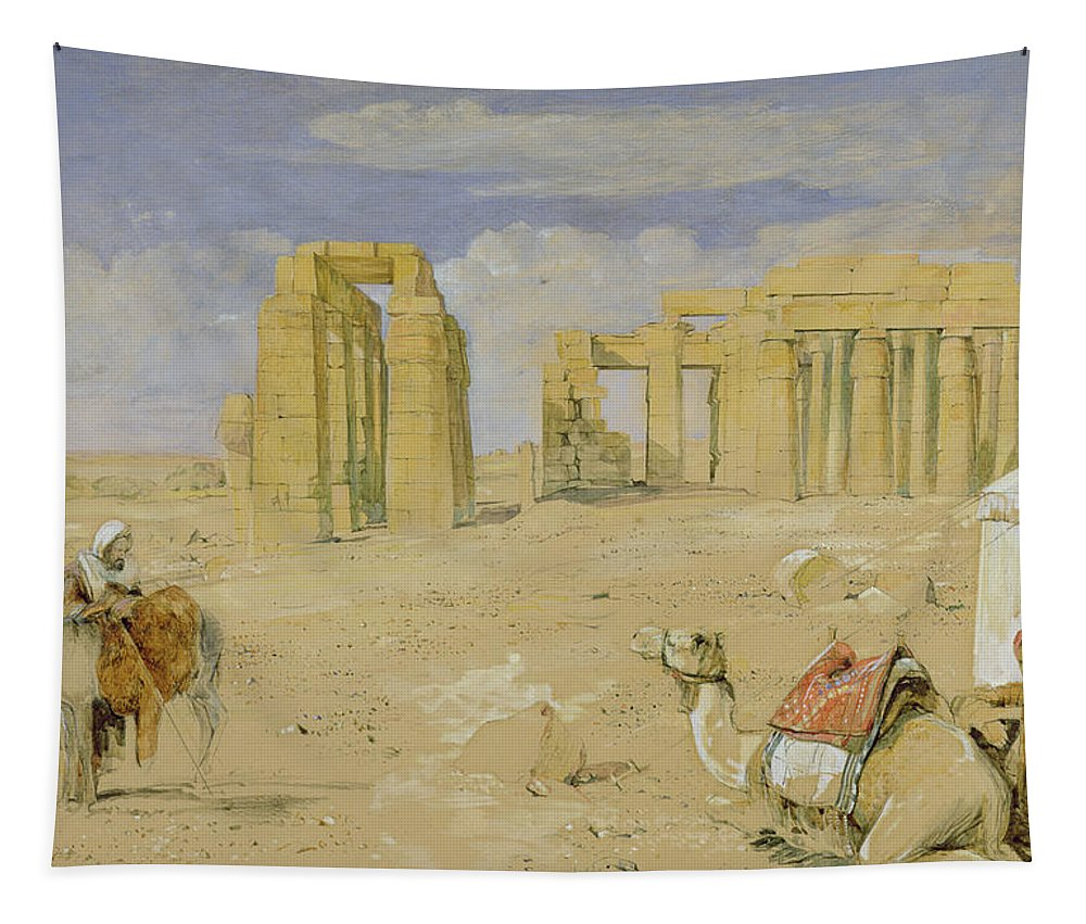 Xyc277112 Tapestry featuring the photograph The Ramesseum At Thebes by John Frederick Lewis