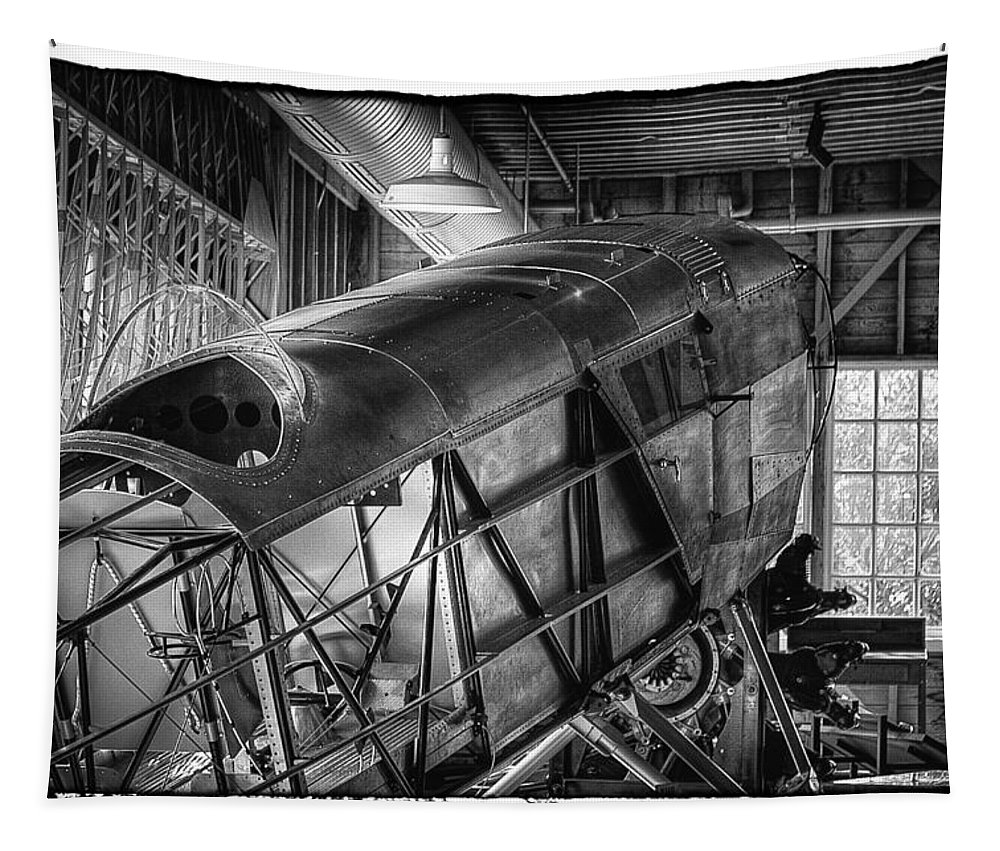 Museum Of Flight Tapestry featuring the photograph The Red Barn Of The Boeing Company IIi by David Patterson