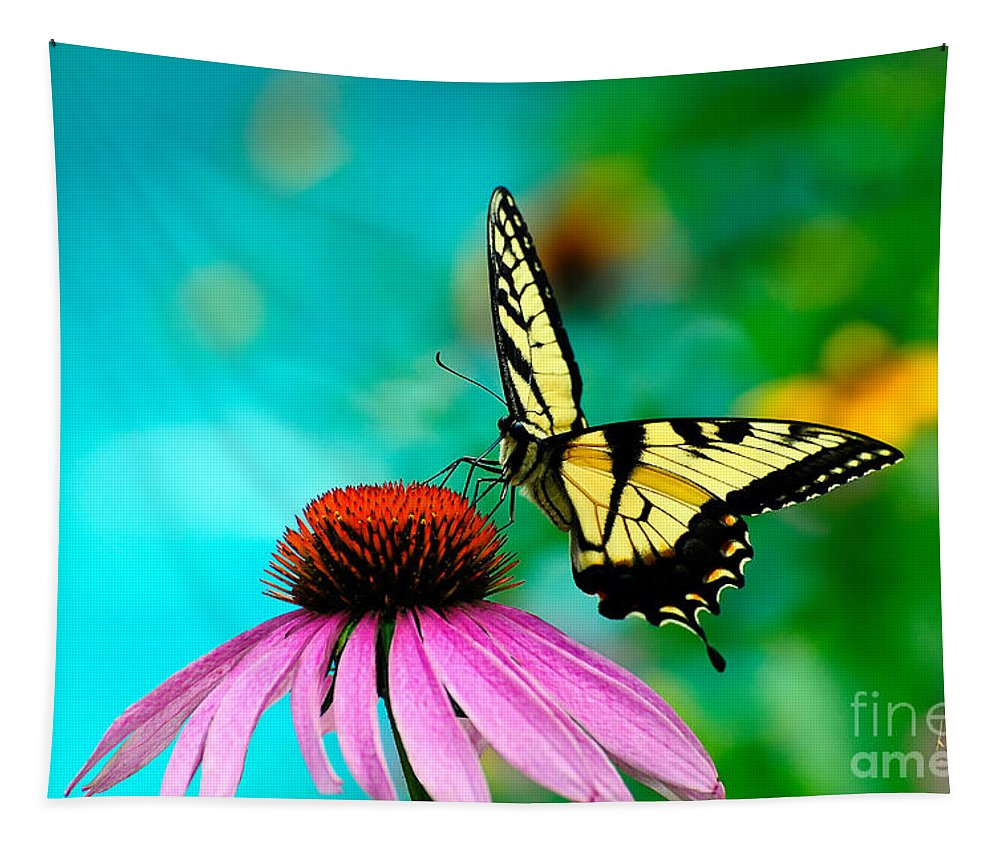 Butterfly Tapestry featuring the photograph The Return by Lois Bryan