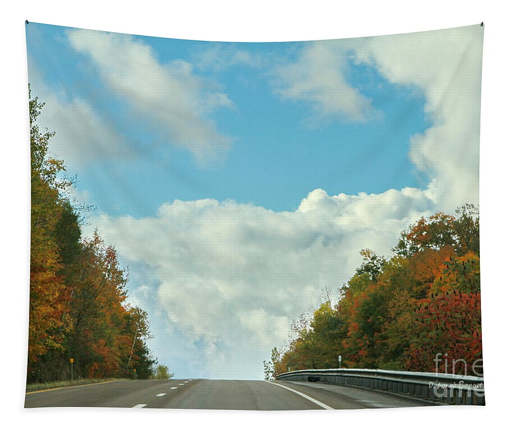 Tapestry featuring the photograph The Road To Heaven by Deborah Benoit