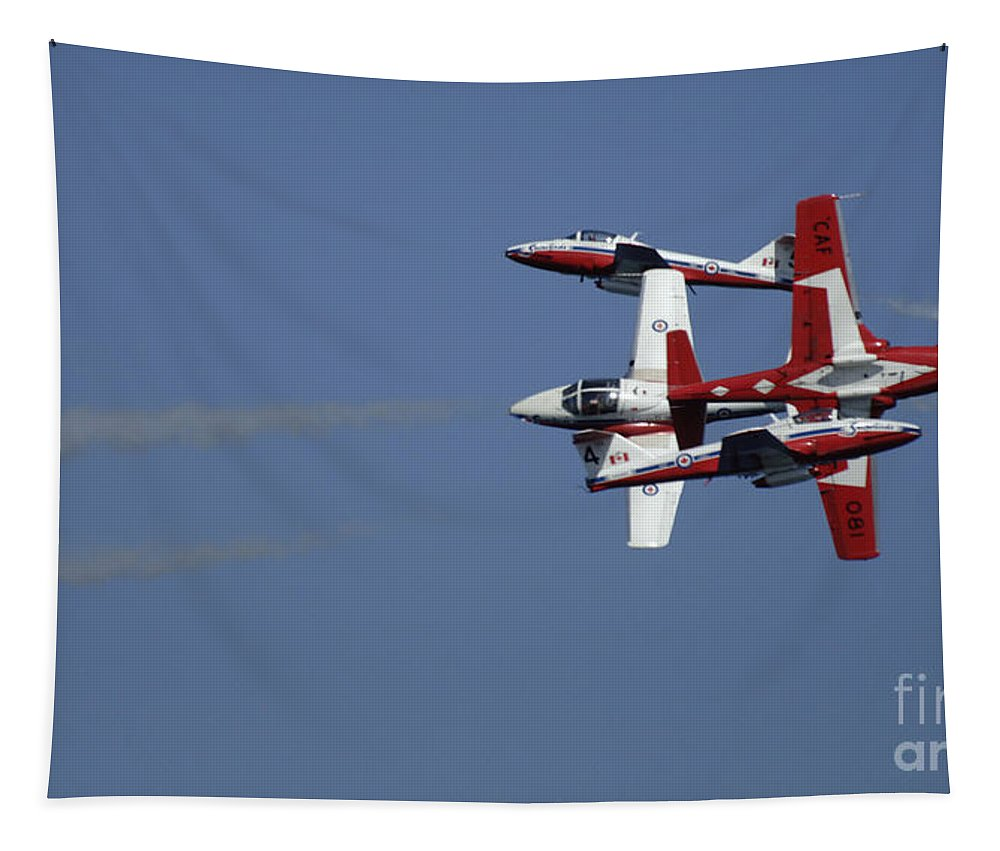 Snowbirds Tapestry featuring the photograph The Snowbirds Fourplay by Bob Christopher