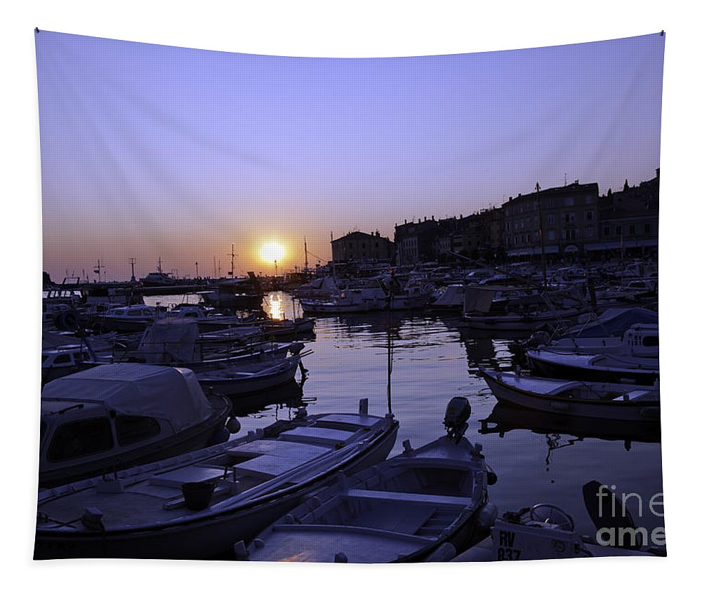 Rovinj Tapestry featuring the photograph The Sun Goes Down In Rovinj by Madeline Ellis