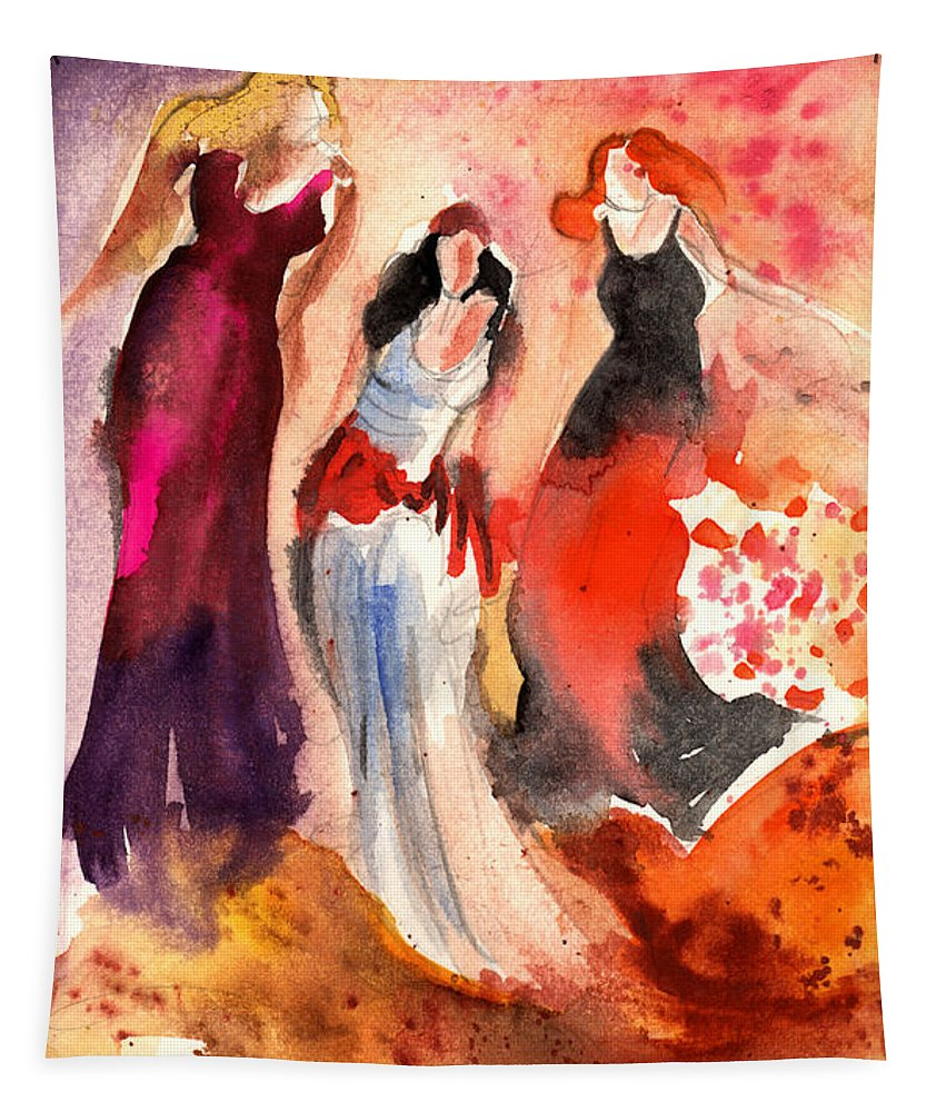 Travel Art Tapestry featuring the painting The Three Muses From Paphos by Miki De Goodaboom
