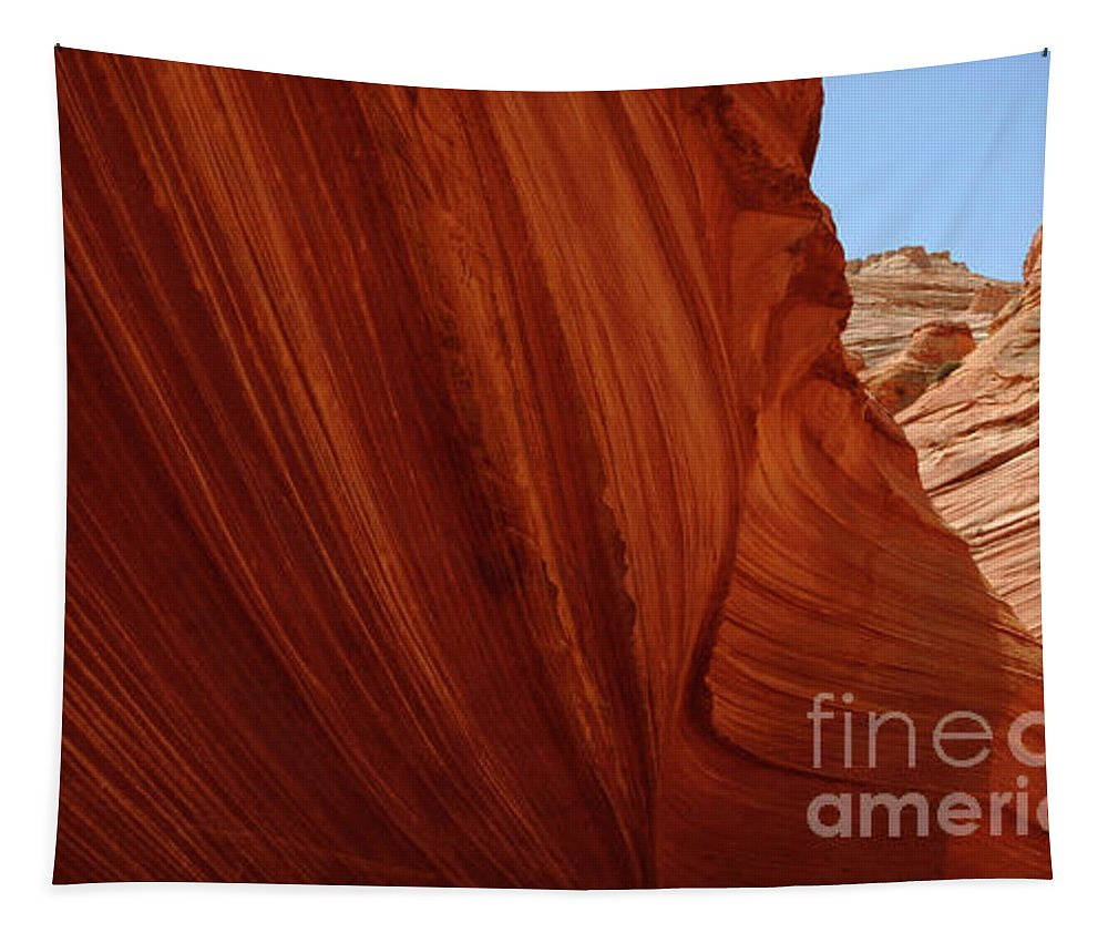 The Wave Tapestry featuring the photograph The Wall by Bob Christopher