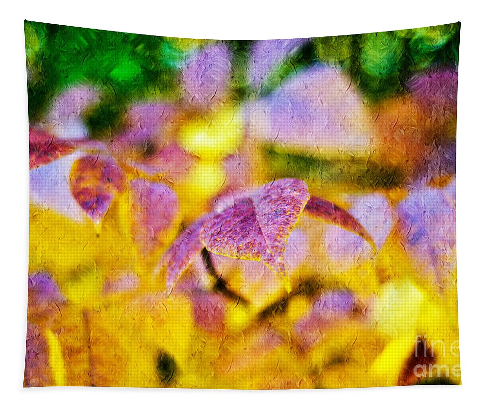 Abstract Tapestry featuring the photograph The Warmth Of Autumn Glow Abstract by Andee Design