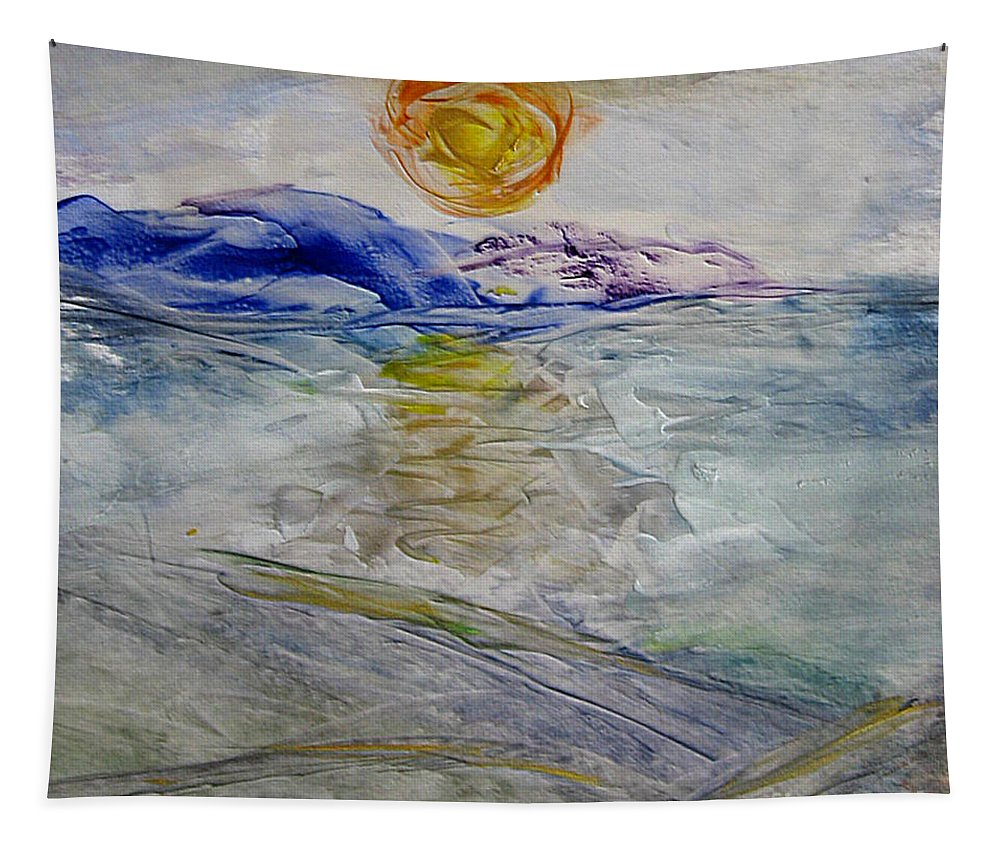 Winter Tapestry featuring the painting The Winter Sun by Dragica Micki Fortuna