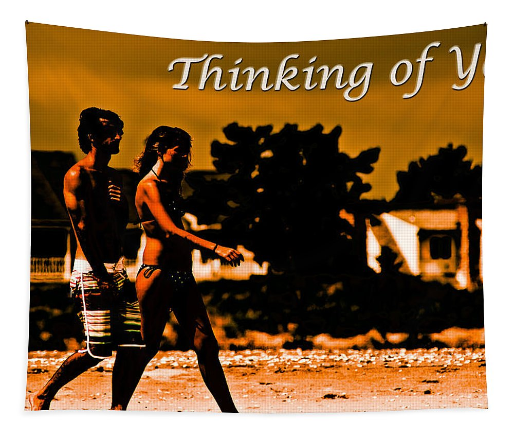 Greeting Card Tapestry featuring the photograph Thinking Of You by Tom Gari Gallery-Three-Photography