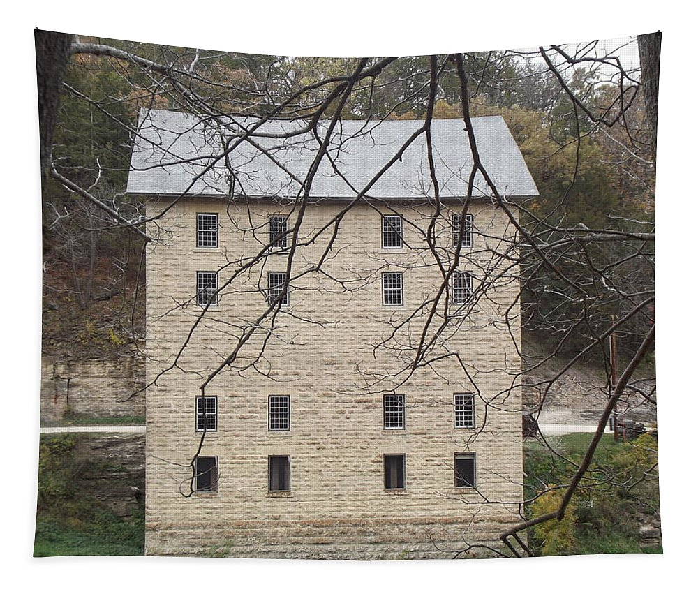 Mill Tapestry featuring the photograph Through The Trees by Bonfire Photography